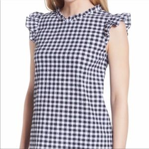 GIBSON NWT b/w gingham top size L